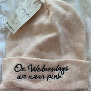 Pink Beanie - On Wednesday's We Wear Pink